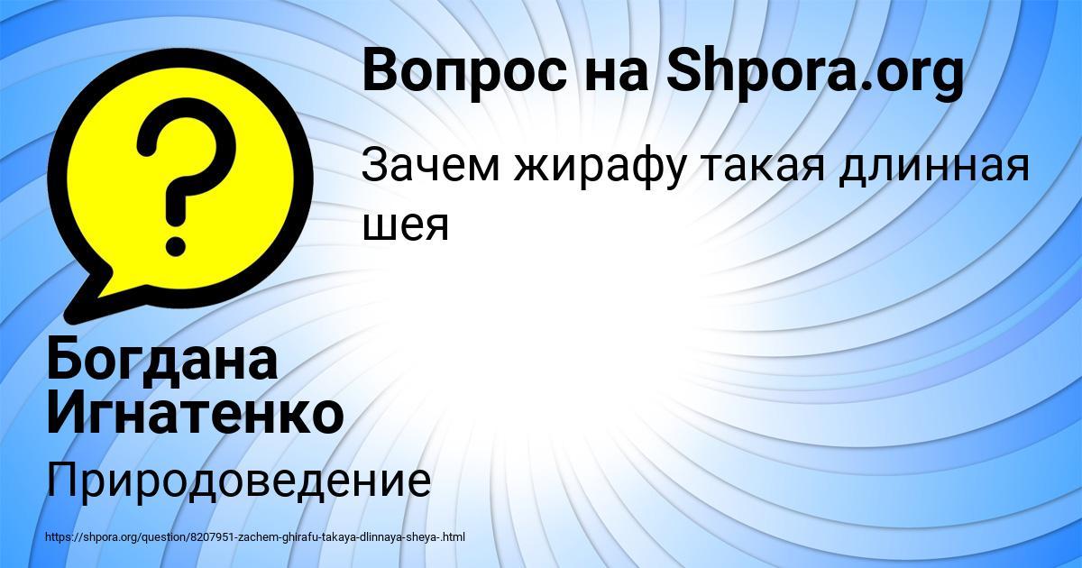 Картинка с текстом вопроса от пользователя Богдана Игнатенко