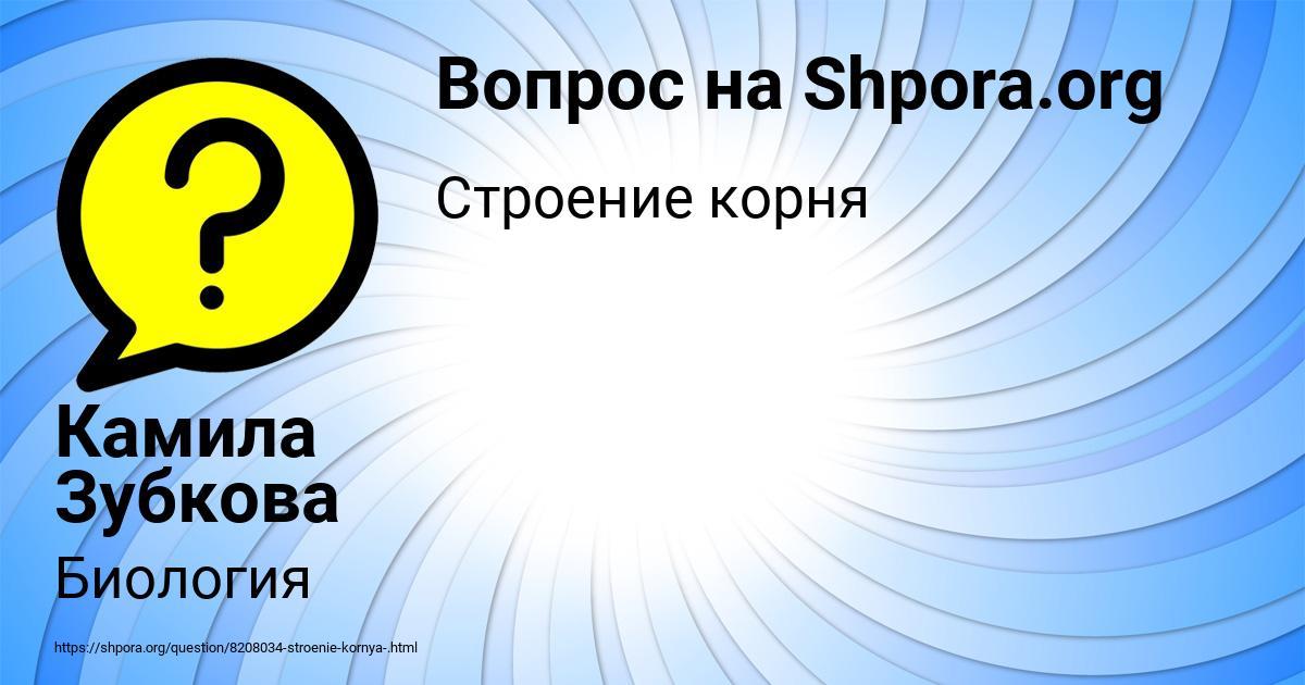 Картинка с текстом вопроса от пользователя Камила Зубкова
